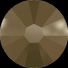 2038 SS06 (2 mm - Hotfix)-Crystal Metallic Light Gold