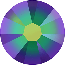 2038 SS08 (2.4 mm - Hotfix)-Crystal Scarabaeus Green