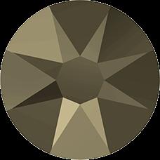 2078 SS12 (3 mm - Hotfix)-Crystal Metallic Light Gold