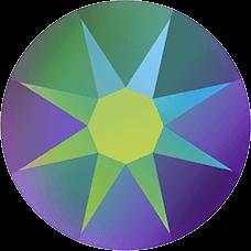 2078 SS16 (3.8 mm - Hotfix)-Crystal Scarabaeus Green