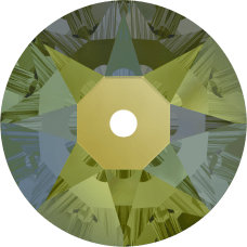 3188 Xirius Lochrose 3MM-Crystal Iridescent Green