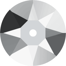 3188 Xirius Lochrose 5MM-Crystal Light Chrome