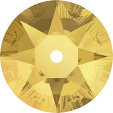 3188 Xirius Lochrose 6MM-Crystal Metallic Sunshine