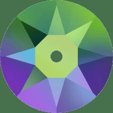 3188 Xirius Lochrose 3MM-Crystal Scarabaeus Green